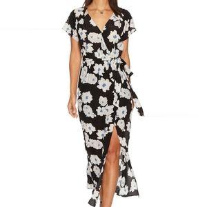 Lucky Brand Poppy Meadows Silk Dress
